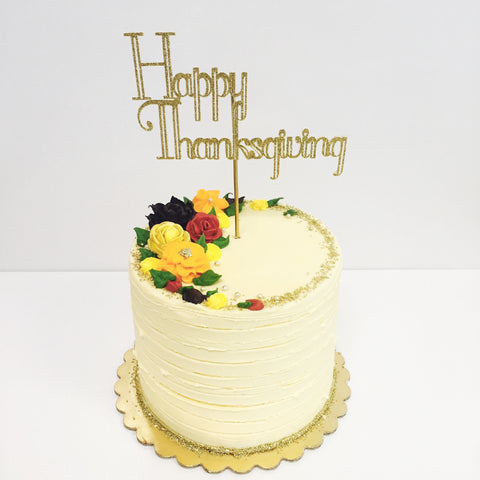 Thanksgiving Floral Cake