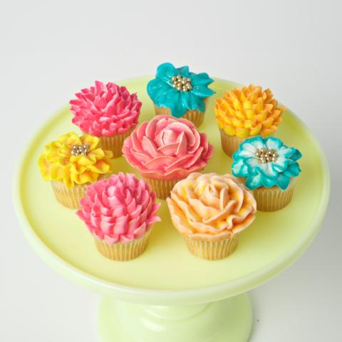 Spring Floral Mini Cupcakes