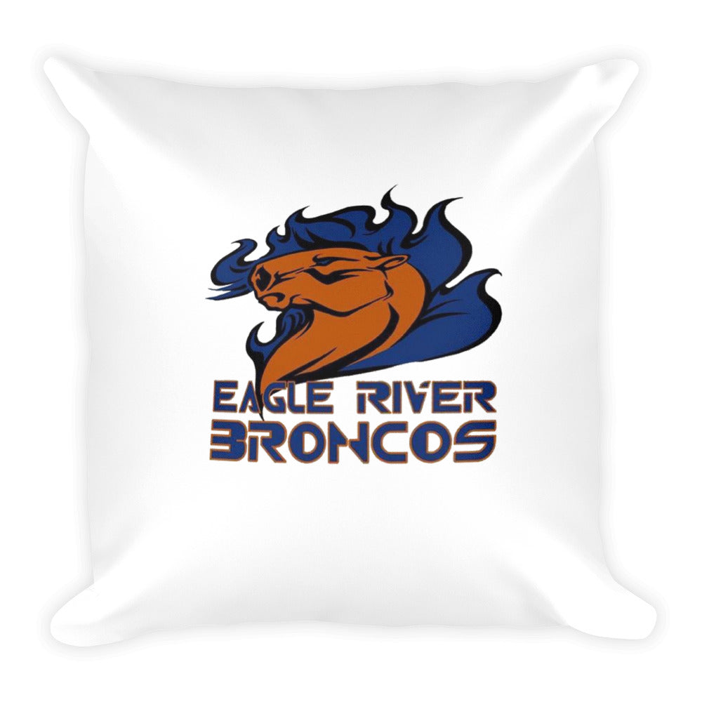Eagle River Broncos Square Pillow