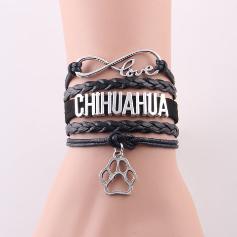 Adorable Chihuahua Infinity Bracelet