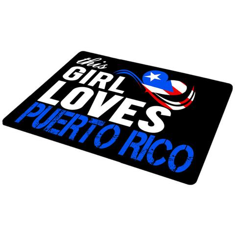 This Girls Love Puerto Rico Anti-Slip Mousepad
