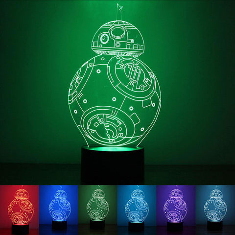 Colorful USB LED BB-8 3D Lamp