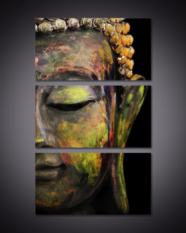 LIMITED EDITION - 3 Piece Buddha Canvas Print