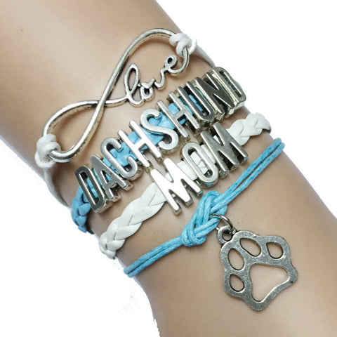 Adorable Dachshund Mom Infinity Bracelet