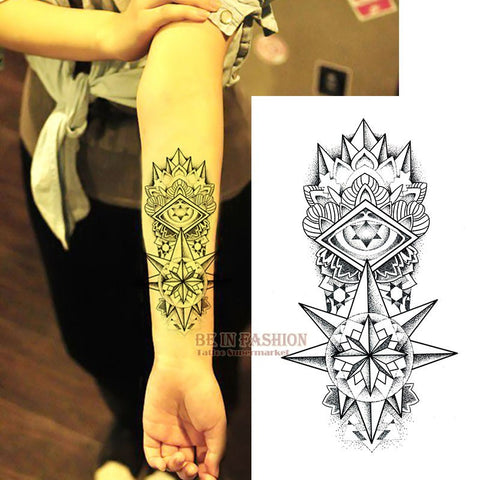 Black Totem Temporary Tattoo