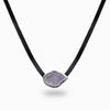 Agate Geode Leather Necklace