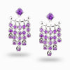 Amethyst Stud Drop Earrings