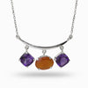 Amethyst & Carnelian Necklace