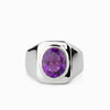 Amethyst Mens Ring