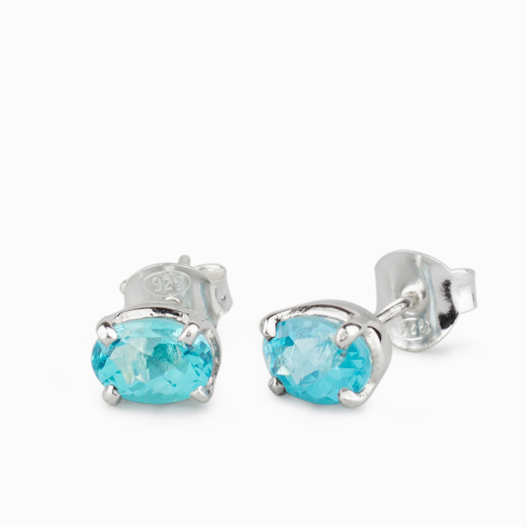 a55b8f34c Apatite Stud Earrings | Made In Earth AU - Made in Earth AU