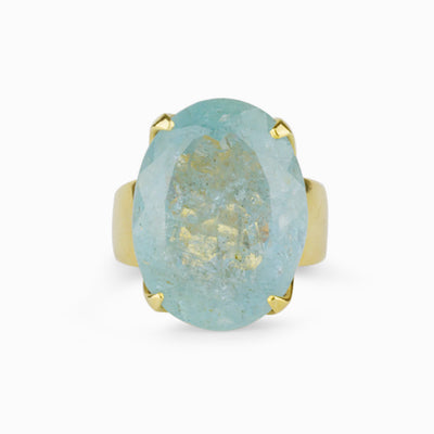 Aquamarine Gold Vermeil Ring