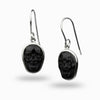 Black Obsidian Skull Earrings