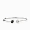 Black Onyx & Clear Quartz Bracelet