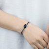Black Onyx Leather Bracelet