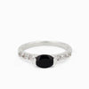 Black Onyx and White Topaz Ring
