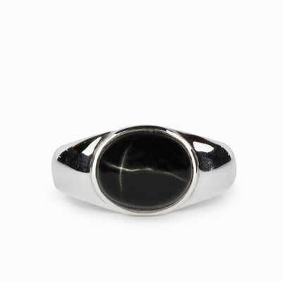 Black Star Diopside Ring
