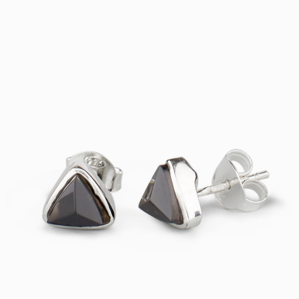 992f4afc1 Black Tourmaline Stud Earrings | Made In Earth AU - Made in Earth AU