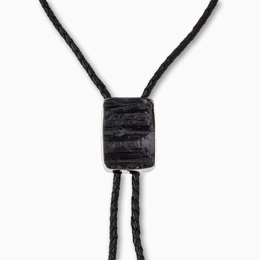Black Tourmaline Bolo Necklace