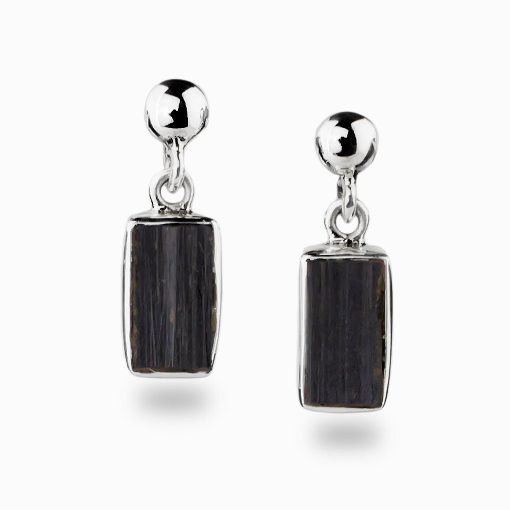 86bc83a3b Black Tourmaline Stud Drop Earrings | Made In Earth AU - Made in ...
