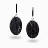 Black Tourmaline Stud Drop Earrings