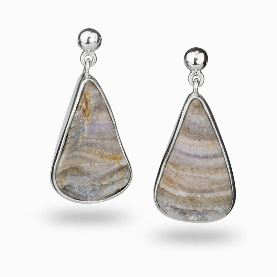 Botryoidal Agate Drop Earrings