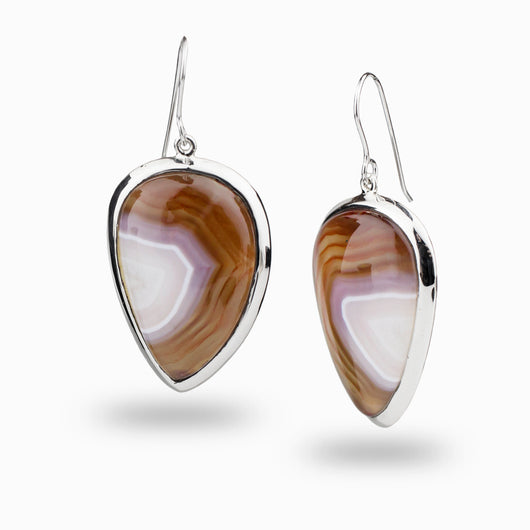 Botswana Agate Drop Earrings