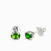 Chrome Diopside Stud Earrings