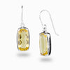 Citrine Pendant Drop Earrings