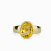 Citrine Gold Vermeil Ring