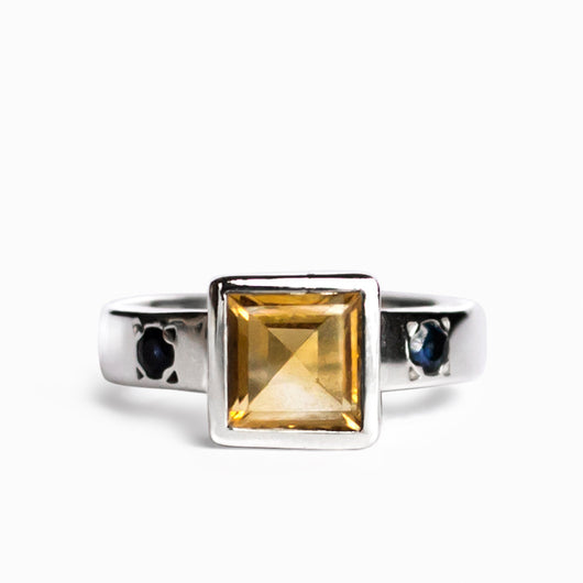 Citrine and Sapphire Ring