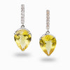Citrine and White Topaz Drop Earrings