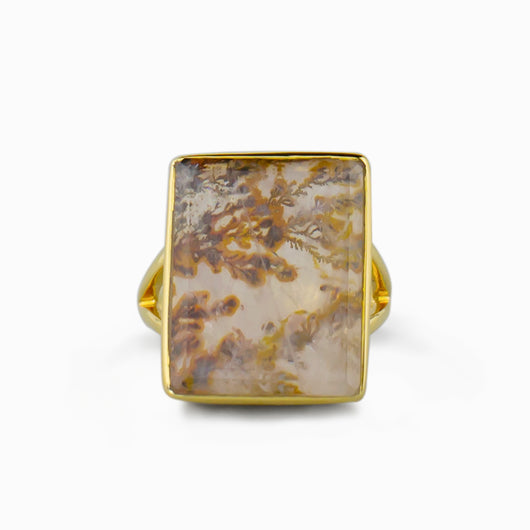 Dendritic Quartz Ring