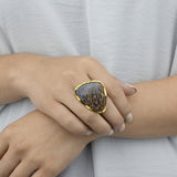 Dinosaur Bone Fossil Ring