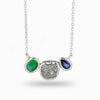 Rough Diamond, Emerald & Sapphire Necklace
