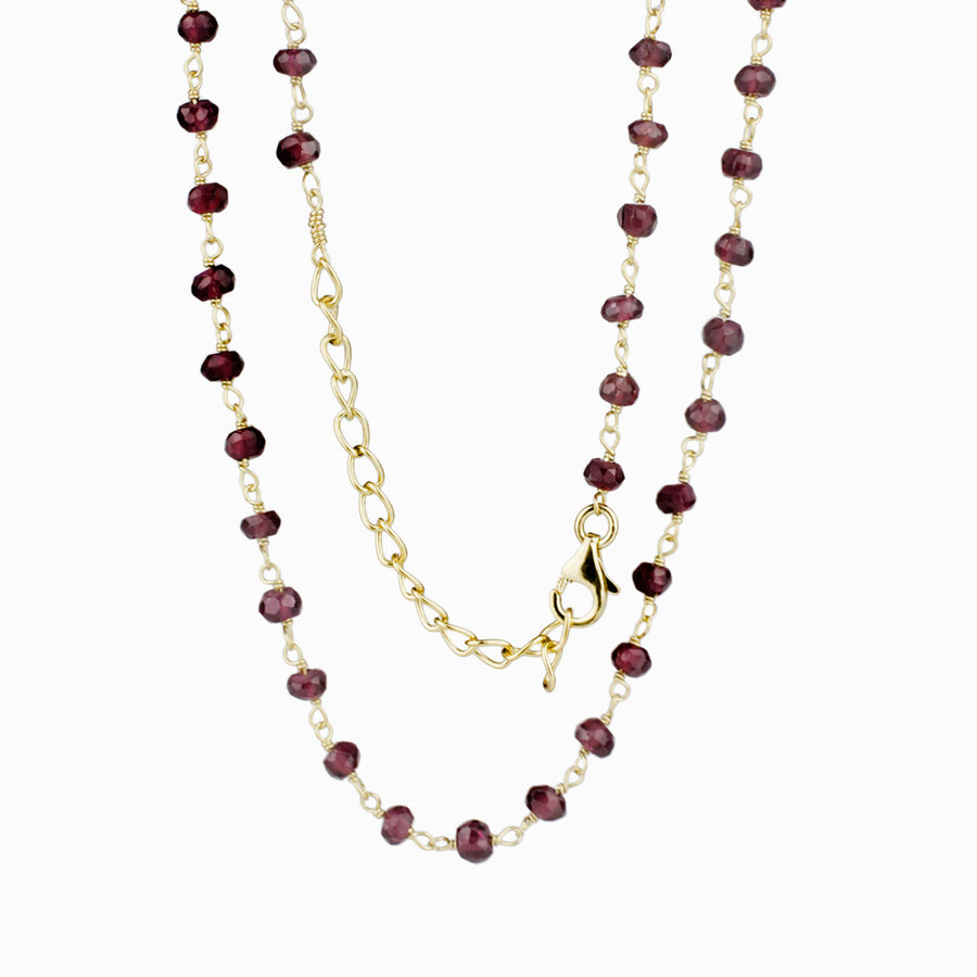 Almandine Garnet Beaded Necklace