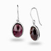 Almandine Garnet Drop Earrings