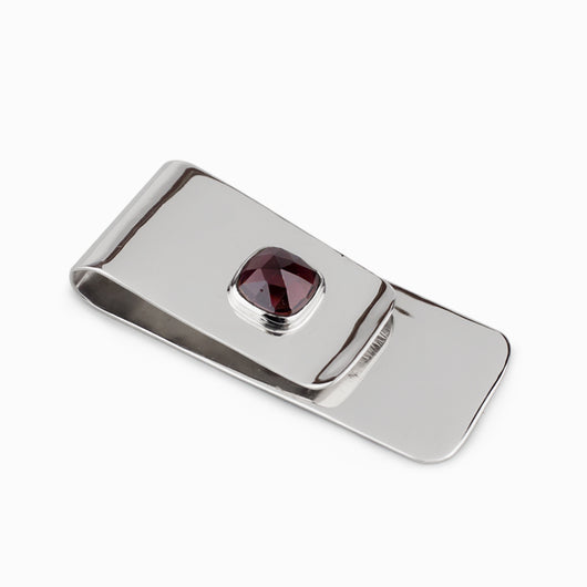 Garnet Money Clip