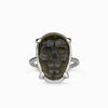 Obsidian Skull - Gold Sheen Ring