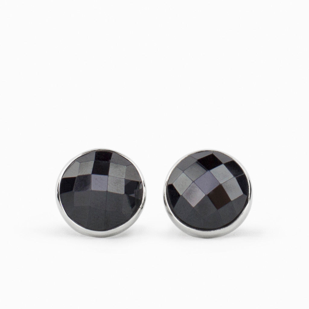 Hematite Stud Earrings Made In Earth Au Made In Earth Au