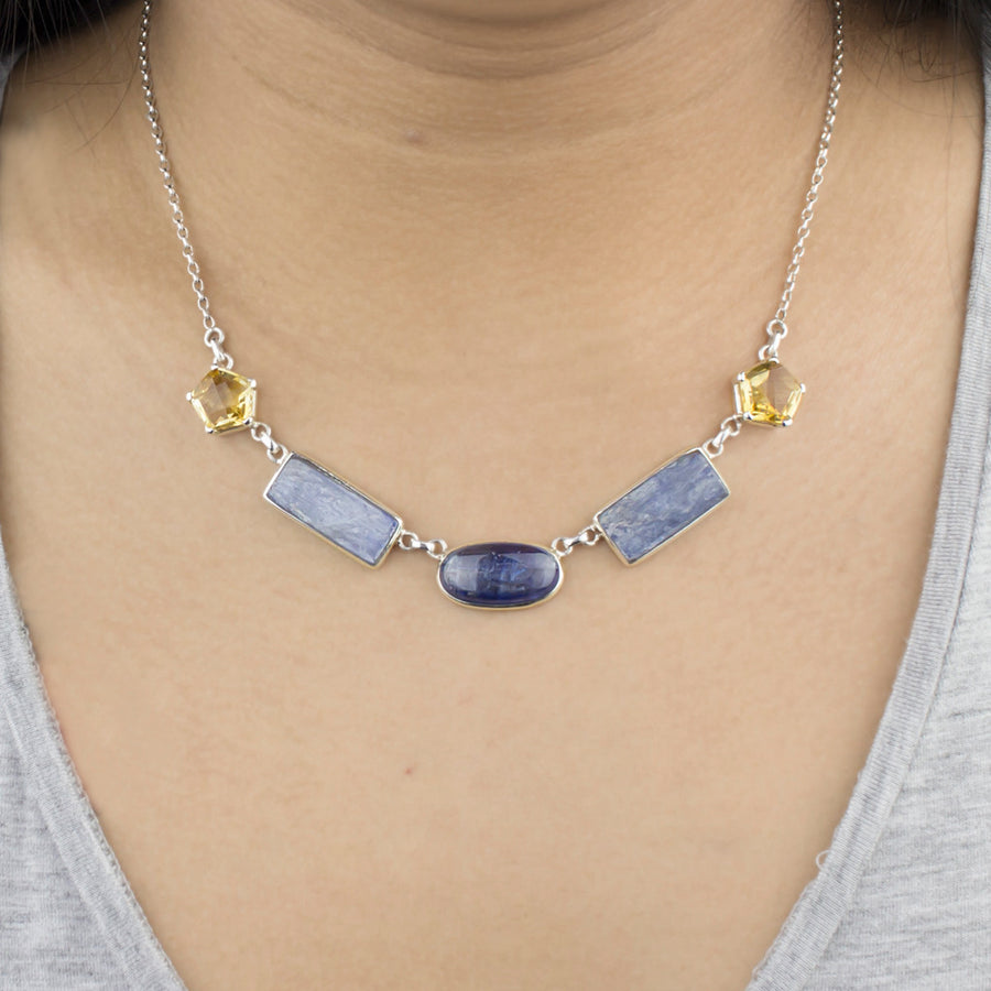 Citrine & Kyanite Necklace