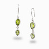 Peridot Multi Stone Drop Earrings
