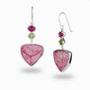 Watermelon Tourmaline, Peridot & Pink Tourmaline Earrings