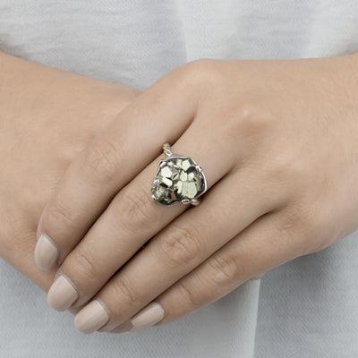 Pyrite Cluster Ring