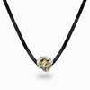 Pyrite Leather Necklace