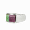 Ruby Zoisite Mens Ring