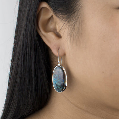 Shattuckite Drop Earrings