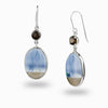 Blue Opal & Smokey Quartz Drop Earrings