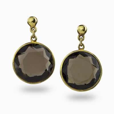Smokey Quartz Drop Earrings
