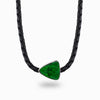 Uvarovite Leather Necklace