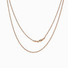 14k Rose Gold Vermeil 1.5mm Ball Chain